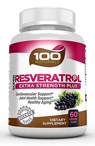 100 Naturals Super Resveratrol 1200mg with Pomegranate,Green Tea, Quercetin, Grape Seed Extract, Acai, Lactobacillus Acidophilus Review