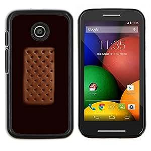 Eason Shop / Premium SLIM PC / Aliminium Casa Carcasa Funda Case Bandera Cover - Cream Sandwich del lunar de Brown - For Motorola Moto E ( 1st Generation )