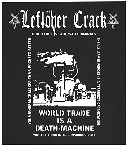 Leftover Crack Back Patch - Crust Punk Citizen Fish Choking Victim Anarcho F-Minus No Cash Anti-Flag Subhumans The Infested Screeching Weasel Operation Ivy (Best Anarcho Punk Bands)