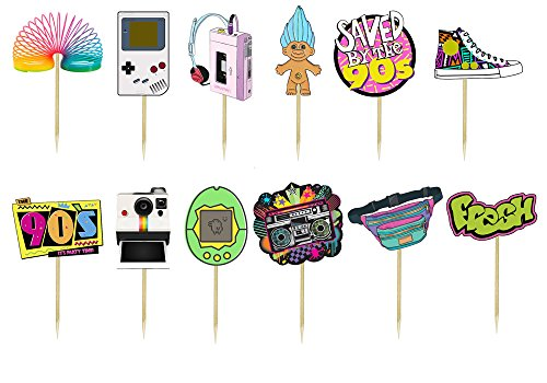 Back to the 90s Cupcake Toppers