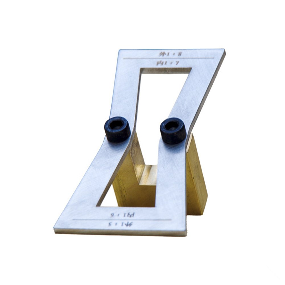Dovetail Marker Hand Cut Wood Joints Gauge Dovetail Guide Tool Template Outside Size 1:5-1:8 Inside 1:6-1:7 for Woodworking by AIBER (Image #1)
