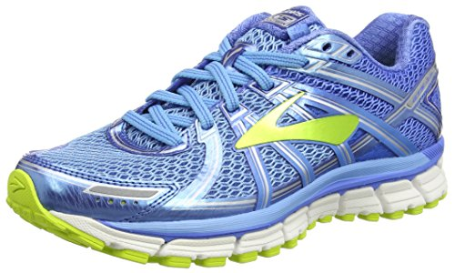 a59eea93867 Brooks Women s Adrenaline GTS 17 Azure Blue Palace Blue Lime Punch 6.5 B US