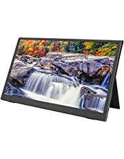 Portable Monitor, 2K Resolution 15.6 Inch Computer Display Supporting for Huawei/for Samsung with A Leather Case, Same Screen Game Display with Type-C Interface for Games Playing and Office
