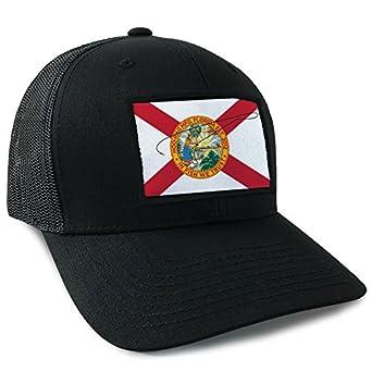 aaf717d08f4 Amazon.com  Hoo-Rag Florida State Flag Trucker Style Snapback by ...