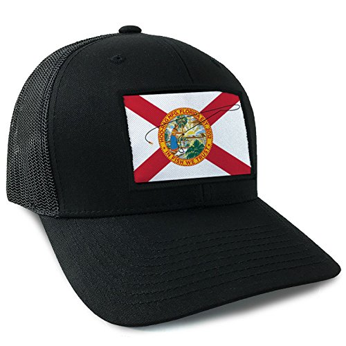 Hoo-Rag Florida State Flag Trucker Style Snapback (State Flag Trucker Hat)
