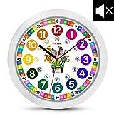 ONETIME Kinderwanduhr (Ø) 30,5 cm Kinder Wanduhr mit lautlosem Uhrenwerk und farbenfrohem Design...