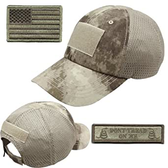 Operator Cap Bundle - w USA/Dont Tread Patches (ATACS Cap - Mesh)