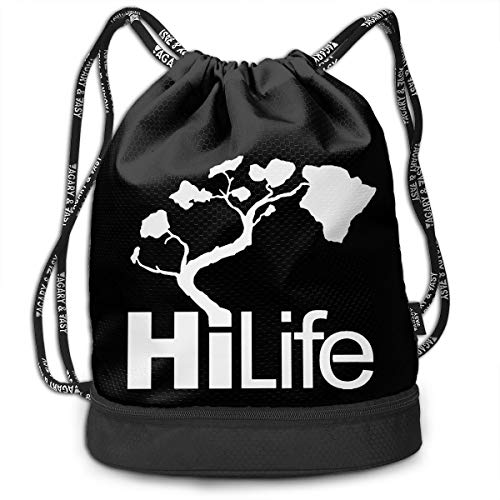 HFTIDBC Hi Hawaii Drawstring Backpack Cinch Bag