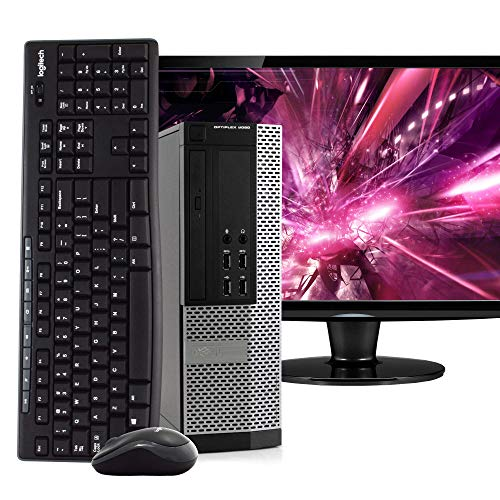 Dell OptiPlex 9020 Space Saving Small Form Desktop PC Computer, Intel i5, 8GB RAM, 500GB HDD, Windows 10 Pro, 24″ LCD Monitor, Wireless Keyboard & Mouse, New 16GB Flash Drive, DVD, WiFi (Renewed)