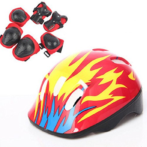 Free Protector 7Pcs for skating for Old Skating Protection and Small Protective Helm 5 Kids Sport Set Bicycling Style Size 3 8 with Gear protection Body Years UHw8qwrxO5