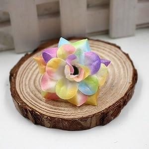 40pcs/lot 4cm Handmade Mini Artificial Silk Rose Flowers Heads DIY Scrapbooking Flower Kiss Ball For Wedding Decorative 3