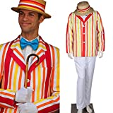 CosplayDiy Men's Costume Uniform for Mary Poppins Bert Cosplay MTM