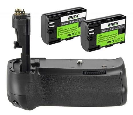ayex - Empuñadura de batería para Canon EOS 70D, 80D (Incluye 2 ...