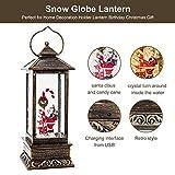 Christmas Musical Snow Globe Lantern, Spinning