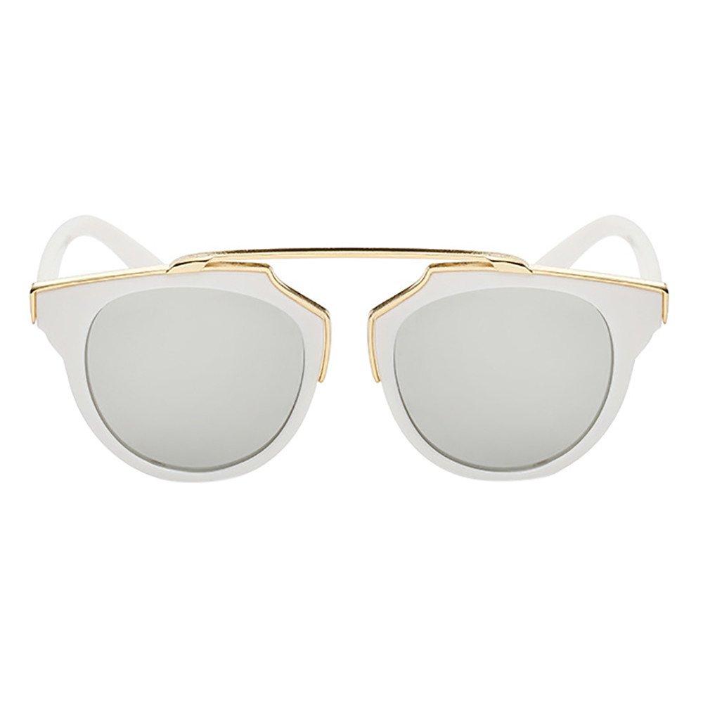 FTXJ Toddler Sunglasses, Kids Anti-UV Sunglasses 7 Color Baby Boys Girls Goggle Sunglasses Age 3-12 (White)