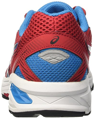 Asics Gt-1000 5 Gs, Zapatillas de Gimnasia Unisex Niños Rosso (True Red/Black/Blue Jewel)
