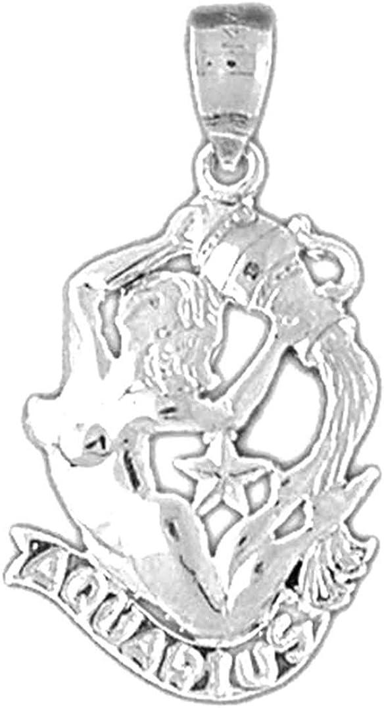 Virgo Pendant Virgo Pendant Jewels Obsession Zodiac 34 mm Sterling Silver 925 Zodiac
