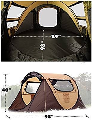 FiveJoy Instant Popup Camping Tent (1 2 Person) NO