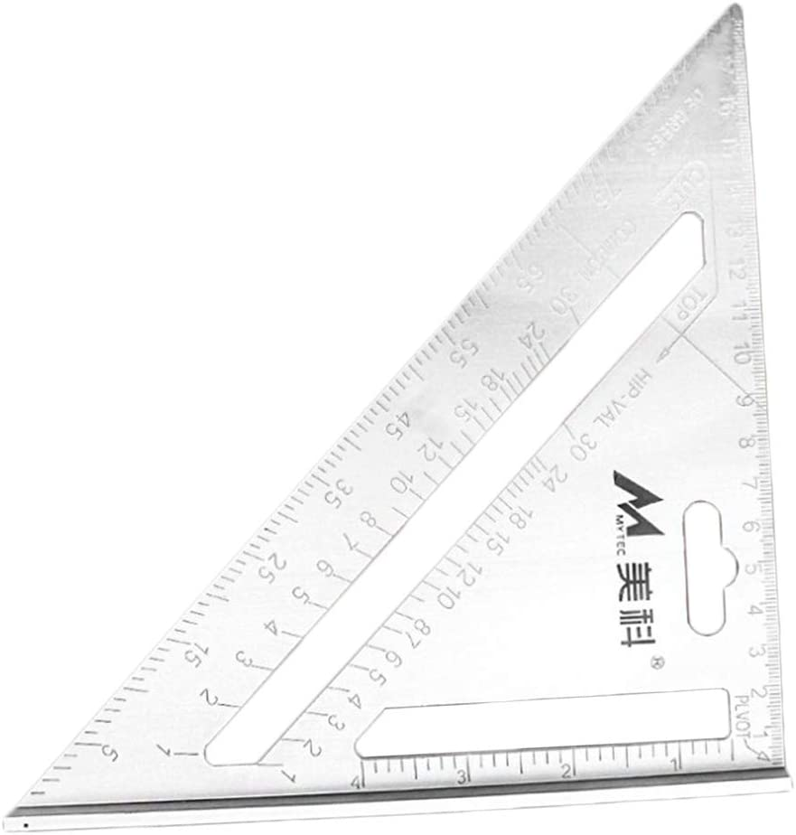 M/étrique 18cm LOVIVER /Équerre Triangle R/ègle dAngle Outil de Bricolage pour Fabricants Artistes