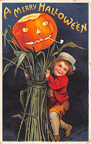 Halloween Post Card Old Vintage Antique Artist Ellen Clapsaddle 1910 -