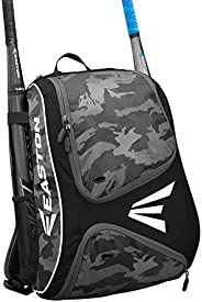 EASTON E110BP Bat & Equipment Backpack Bag, 2021, Baseball Softball, 2 Bat Sleeves, Smart Gear Storage, Ve