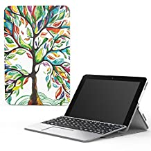 "MoKo Transformer Book Mini T102HA Case, Ultra Compact Lightweight Slim Shell Cover Case, with Auto Wake/Sleep for 2016 ASUS Transformer Book Mini T102HA-D4-GR 10.1"" Tablet/2 in 1 Laptop, Lucky Tree"