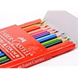 FC-200-TC24 Faber-castell Soft Lead-no Pressure Required Tri-colour Pencils (Set of 24)