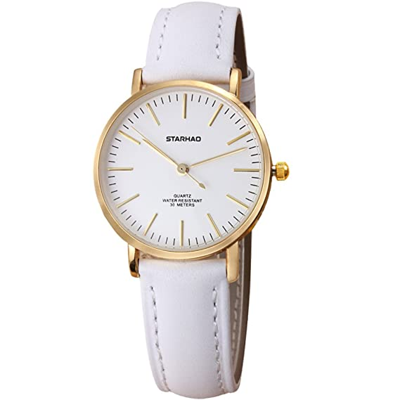 Reloj Coreano/Simple impermeable relojes moda/Reloj de cuero casual-A