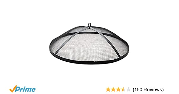 Fire Pit Screen Spark Cover Hinged Steel Mesh Heavy Duty Easy Access Cage 32 In. Home, Furniture & DIY