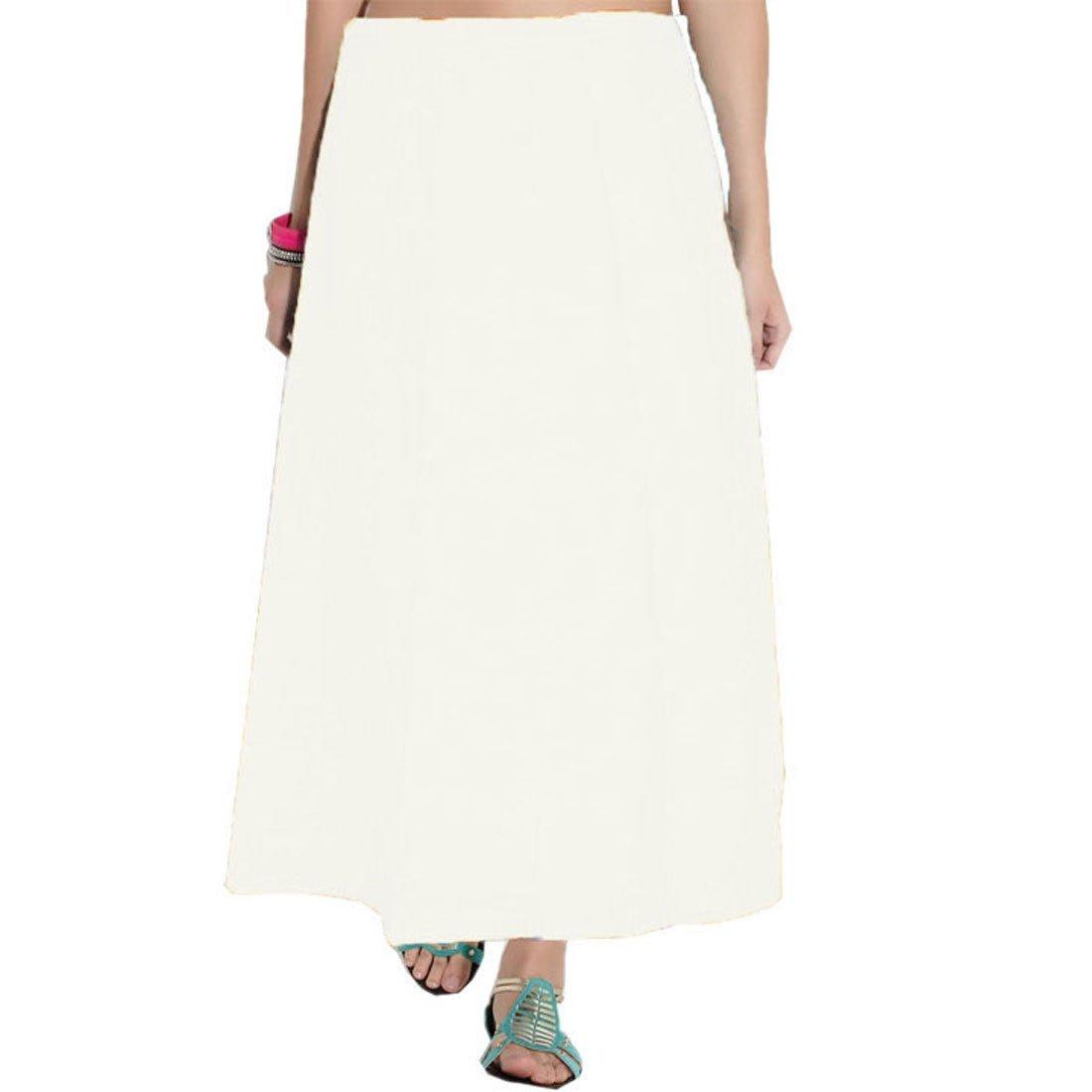 Odishabazaar White Saree Inskirt Petticoat Cotton - Free Size