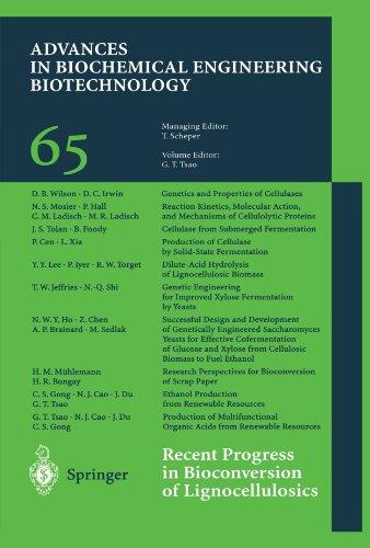 Recent Progress in Bioconversion of Lignocellulosics (Advances in Biochemical Engineering/Biotechnology)