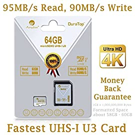2-Pack 256GB Micro SD Card Plus Adapter - Amplim 256 GB MicroSD SDXC V30 A1 U3 Class 10 Ultra High Speed 100MB/s UHS-I TF XC MicroSDXC Memory Card for Cell Phone, Nintendo, Galaxy, Fire, Gopro Camera 9 LATEST SD 5.1 SPECIFICATIONS: New SD Association SD 5.1 V30 specifications guarantee high speed video. A1 performance allows phone applications to be executed / run directly from the memory cards. Ideal for smartphones, tablets, action cameras, 360o cameras, drones, camcorders, computers, laptops, and etc. Store and transfer high resolution videos, photos, music, files, documents and more. Amplim V30 A1 U3 cards are available in 256GB, 128GB, 64GB and 32GB. COMPATIBILITY: All SDXC phones/tablets. Samsung Galaxy S10 S10e S10+ A30 A50 A9 A8 A7 M20 M10 J8 J6 A6 A6+ J7 Star Prime 2 S9 S9+ J2 Note 9 8 Tab S4 S3 J3 Book S8+ Plus S8 Active J7 V S7 Edge S7 Tab E Tab A (2018) S6; LG K30 G8 G7 Q7 Q Stylus V35 V40 V50 THINQ Zone 4 V30S K10 V30 V20 G6 K20 V Stylo 2 V Stylo 4 3 X Venture Charge Power G Pad F2 8.0 Pad X II; Sony Xperia 10 10+ 1 XZ2 Premium Compact L2 XA2 Ultra Plus XZ1 L1 XZ; Amazon Fire 7 Fire HD 8 Fire HD 10 and Kids edition. COMPATIBILITY Continued: Microsoft Surface 6 5 4 Pro LTE Surface 3 2 Surface Book Studio; Motorola Moto G7 G6 G5 E5 E4 Play Plus X4 G5S Z2 Force Edition; Nokia 3.2 4.2 3.1 Plus 2 V 8.1 3.1 Plus 7.1 5.1 Plus 6.1 Plus 2.1 5.1; U12+ Desire 12 12+ U11 EYEs life U11+ Desire 555 One X10 Bolt; Huawei P Smart Y7 Prime Y6 Y3 Mate 10 RS MediaPad M5 M3 8 10 P Smart P9 lite MateBook Nova 2; Will work with all SDXC compatible phones, computers, cameras, drones and other devices.