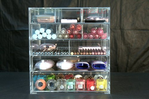 2014 Latest models Most Popular Best-Selling Super Low Price MYcase High Quality Fashional 5 Drawers Clear Acrylic Makeup Icebox Jewelry -