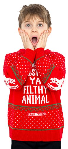 Children Home Alone Merry Christmas Ya Filthy Animal Ugly Christmas Sweater (Small) -