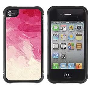 "Pulsar iFace Series Tpu silicona Carcasa Funda Case para Apple iPhone 4 / iPhone 4S , Brush Strokes Rosa Vignette Nubes florales"""