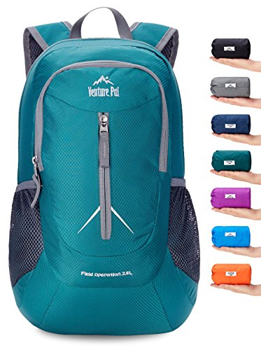 Venture Pal 25L - Durable Packable Lightweight Travel Hiking Backpack Daypack Small Bag for Men Women Kids (Green) by Venture Pal