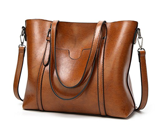 Price comparison product image Women Shoulder Bags Zipper Handbags for women Top Handle Bag Tote Bags by YUNS (Brown)