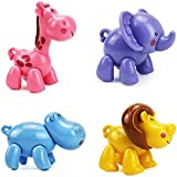 Noah's Animal Set African Toy Animals Toy Animal Figurines Hippo Lion Elephant Deer