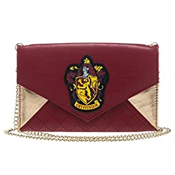 Harry Potter Gryffindor Womens Envelope Clutch Wallet w/ Chain