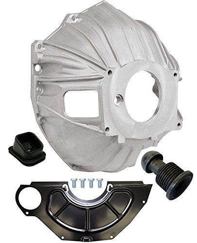 "NEW SWS CHEVY ALUMINUM BELLHOUSING, FLYWHEEL INSPECTION COVER, CLUTCH FORK BOOT & CLUTCH PIVOT BALL, GM 621 3899621 REPLACEMENT FOR SBC & BBC FOR 11"" MANUAL CLUTCH APPLICATIONS"