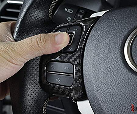 Lexus is 2017-2020 Eppar New Carbon Fiber Steering Wheel Button Covers Compatible with Lexus is IS200t IS250 IS300 IS300h IS350 2013-2020