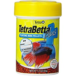 Tetra TetraBetta Plus Floating Mini Pellets, 1.2-Ounce