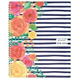 Five Star 2018-2019 Academic Year Weekly & Monthly Planner, Large, 8-1/2 x 11-1/2, in Bloom, Stripe Design (CAW557D3)