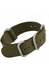 MetaStrap 20mm Nylon Strap Zulu Watch Band (Army Green)