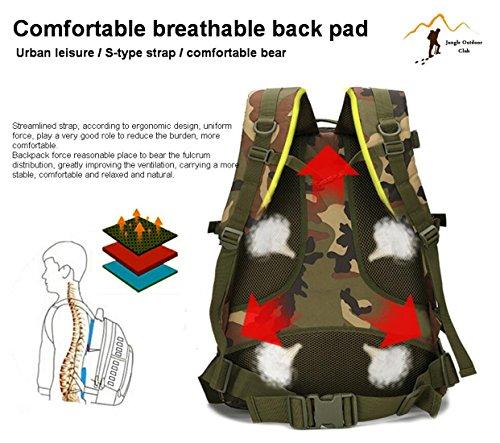 Jungle 36–�?5L laptop zaino da 3D attacco zaino militare escursioni campeggio arrampicata Recreation ciclismo tattico zaino, ACU Digital