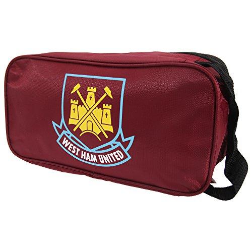 West Ham FC Official Foil Print Football Crest Shoe/Boot Bag (One Size) (Claret/Gold)
