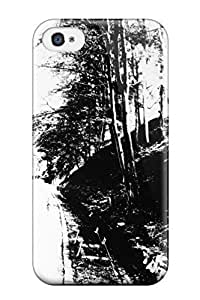 Slim Fit Tpu Protector Shock Absorbent Bumper Graphic Art Case For Iphone 4/4s