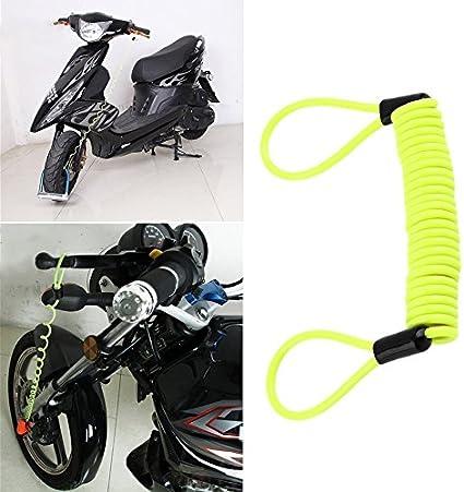 accesorios de seguridad alarma de seguridad para motocicleta greenwoodhomer Cable recordatorio de bloqueo de disco antirrobo de 120 cm