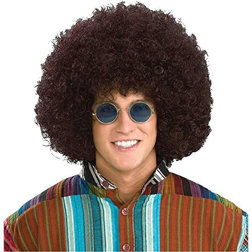Afro Hippie Costume (Jumbo Hippie Afro Wig Costume Accessory)