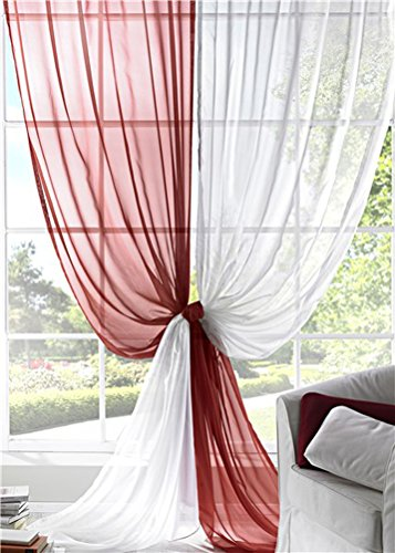 LivebyCare 1pcs Pinkycolor Sheer Window Curtain Panel Grommet Top Voil Window Treatment Drapery Drape Room Divider Partition Curtains Decorative for Family Room Hotel by LivebyCare (Image #4)